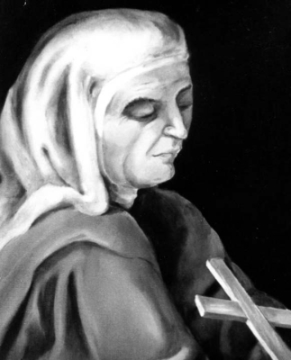 detail of a portrait of Blessed Teresa Ríus Casas, date and artist unknown; swiped from Santi e Beati