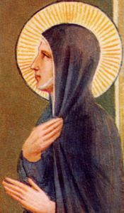 detail from a portrait of Blessed Villana by Fra Angelico