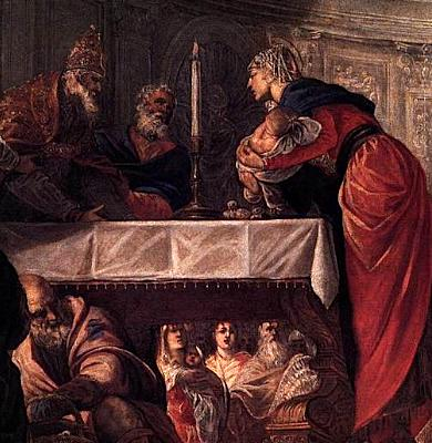 detail from 'The Presentation of Christ in the Temple', by Tintoretto, 1550-1555, oil on canvas, Gallerie dell'Accademia, Venice, Italy
