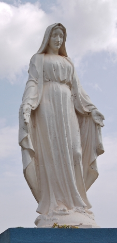 statue of the Blessed Virgin Mary, date and artist unknown; Butare, Rwanda; photographed in June 2009 by Rytc; swiped from Wikimedia Commons