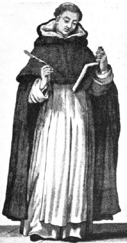 illustration of a Dominican friar from 'A Garner of Saints', 1900, artist unknown