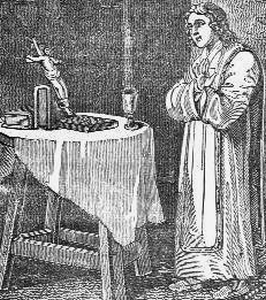 illustration of Blessed George Napper, artist unknown; from the book 'Memoirs of Missionary Priests' by Archbishop Richard Challoner