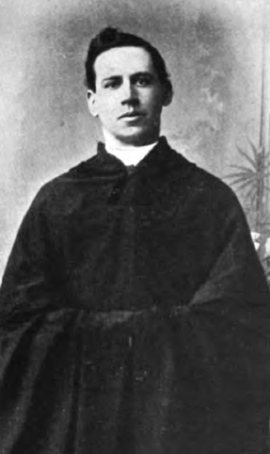 photograph of an unidentified Austin Friar from the book Monasteries and Religious Houses of Great Britain and Ireland, 1903, photographer unknown