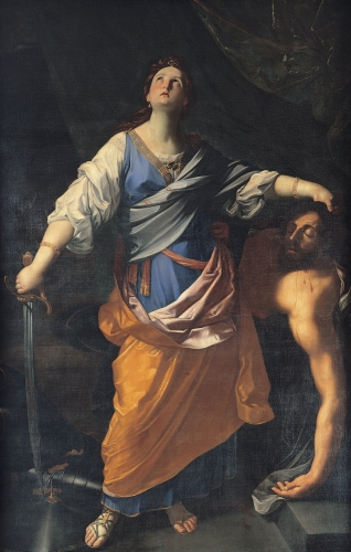 detail of the painting 'Judith' by Carlo Maratta, c.1625; Capitoline Museums, Rome, Italy; swiped from Wikimedia Commons