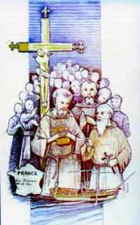 holy card of the Martyrs of the Hulks of Rochefort, date and artist unknown; swiped from Santi e Beati
