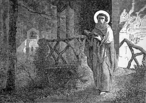 Pictorial Lives of the Saints illustration for Saint Goar, Priest