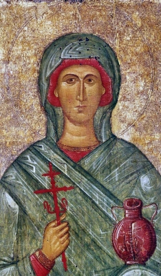 14th century Byzantine icon of Saint Anastasia of Sirmium