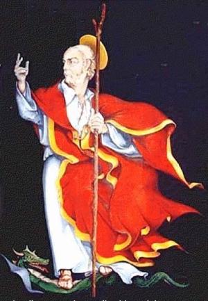 illustration of Saint Bernerio of Eboli, date and artist unknown; swiped from Santi e Beati