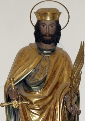 statue of Saint Castulus of Rome, Ursula chapel, Kastulusmünster, Moosburg; photographed on 13 January 2012; swiped from Wikimedia Commons