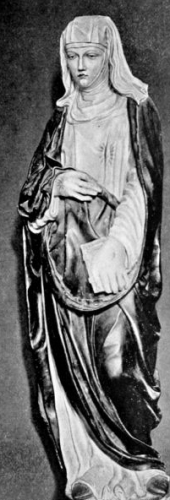 wooden statue of Saint Catherine of Siena by Neroccio Landi, date unknown; taken from 'Queens of the Renaissance' by M Beresford Ryley, 1907