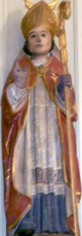 wooden statue of Saint Demet of Plozévet, c.1800, artist unknown