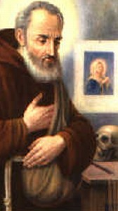 holy card of Saint Felice da Nicosia; swiped off a Capuchin web site
