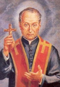 detail of the official canonization portrait of Saint Gaspar Bertoni, artist unknown, date unknown; swiped from the Vatican web site