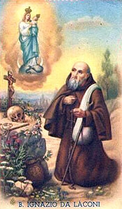 1940 Italian holy card, artist unknown, issued as a commemoration of the beatification of Saint Ignatius of Laconi