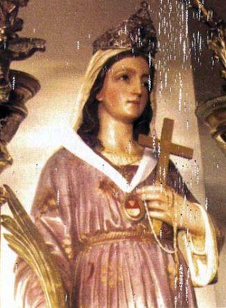 statue of Saint Imbenia in Cuglieri, Italy; date and photographer unknown; swiped from Santi e Beati