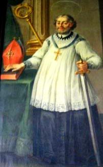 detail of a painting of Saint John of Bridlington; swiped from Santi e Beati