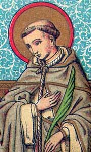 detail of a Saint John of Cologne holy card, date and artist unknown