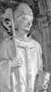 statue of Saint Justus of Canterbury, Rochester Cathedral, sculptor unknown; taken in May 2006 by Polylerus; swiped off the Wikipedia web site
