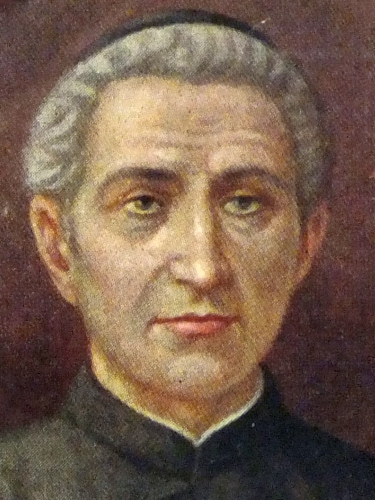 detail of a holy card of Siant Ludovico Pavoni, artist unknown, c.1900; swiped from Wikimedia Commons