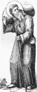 illustration of Saint Macarius the Younger; from 'Little Pictorial Lives of the Saints'