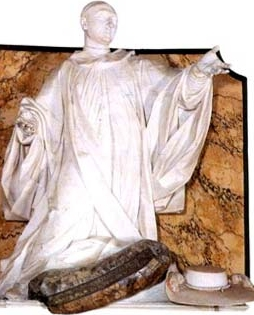 statue of Saint Oderisius de Marsi, date and artist unknown; swiped from Santi e Beati