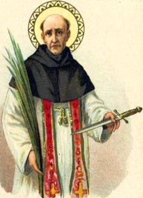 Saint Peter Arbues holy card