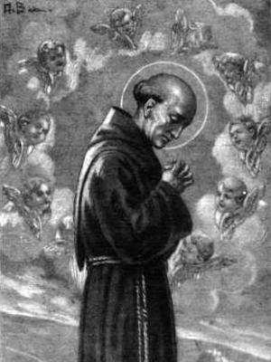 holy card of Teofilo da Corte, 1930, artist unknown; swiped from Wikimedia Commons