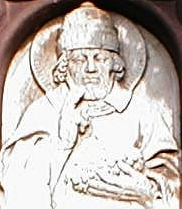 bas-relief of Saint Urban of Langres, Klingenberg am Main, Germany; photograph by Maulaff; swiped off Wikipedia