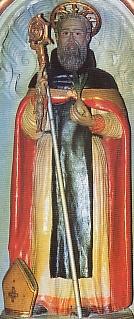 statue of Saint Vitalis of Calabria at the church of San Luca of Armentu