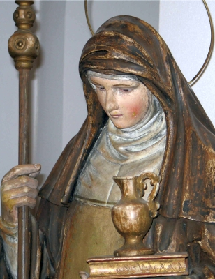 statue of Saint Walburga, artist unknown, Contern, Luxembourg