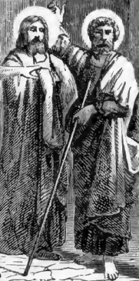 Saints Adrian and Eubulus of Caesarea, from Pictorial Lives of the Saints