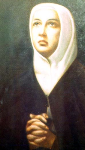detail of a portrait of Venerable Anna Maria Fiorelli Lapini preserved in the