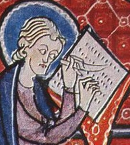 detail of an illumination by an unknown French miniaturist, from the Bible of Hainburg, 1300-1320, Episcopal Library, Pécs, France