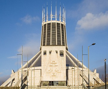 Metropolitan Cathedral Church of Christ the King, diocese of Liverpool, England; taken on 4 December 2005 by Andrew Dunn; swiped off the Wikipedia web site