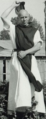 Thomas Merton, a famous Trappist monk, in his habit