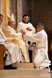Priest taking vow