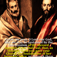 JUNE 29: STS. PETER AND PAUL (1) You are Peter and on this Rock I will build My Church.