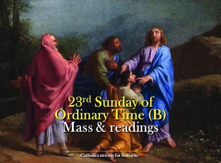 23rd Sunday in Ordinary Time Year B