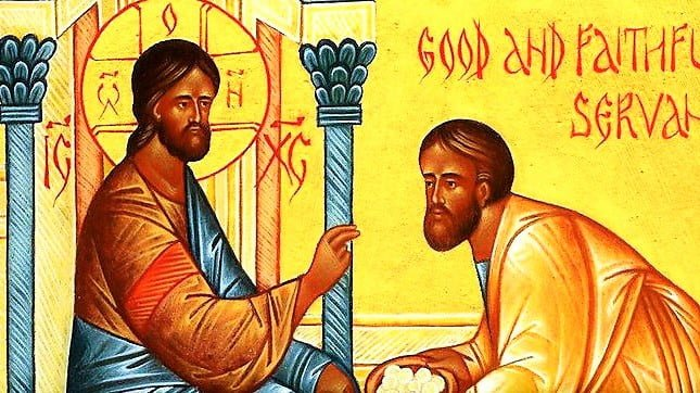 DAILY GOSPEL COMMENTARY. THE PARABLE OF TALENTS (Mt 25:14-30).