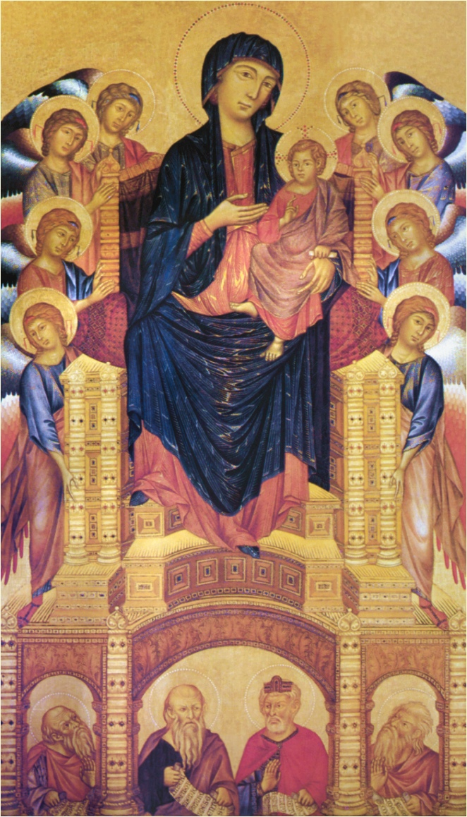 Cimabue Madonna Enthroned With Angels And Prophets : cimabue, madonna, enthroned, angels, prophets, ANGELS, GALLERY