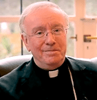"""Click on photo to hear Bishop Egan of Portsmouth reading his Christmas pastoral letter in which he refers to the challenge of climate change and the Holy Family as """"refugees"""" ..."""