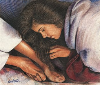 woman washing Jesus feet 2