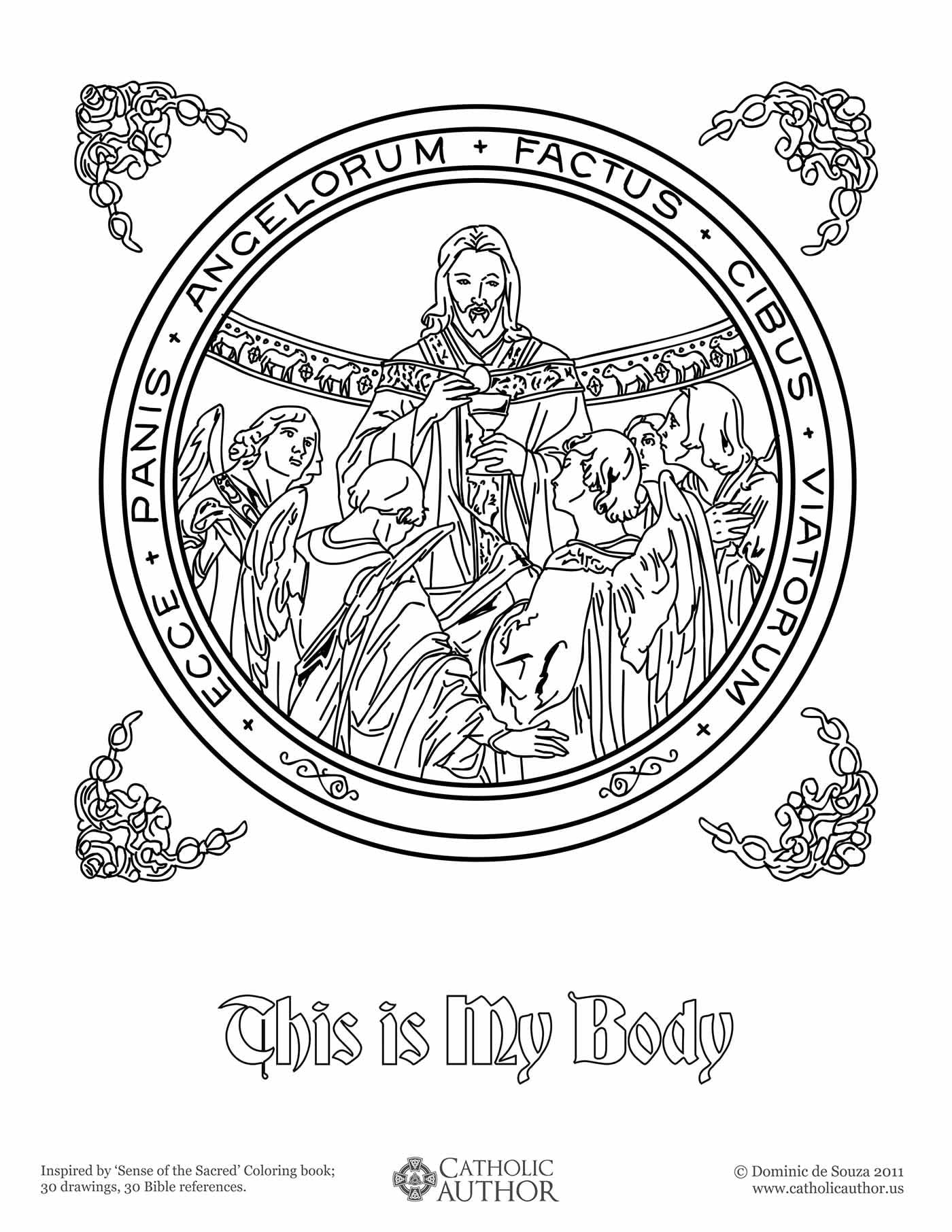 12 Free Hand-Drawn Catholic Coloring Pictures » CatholicViral