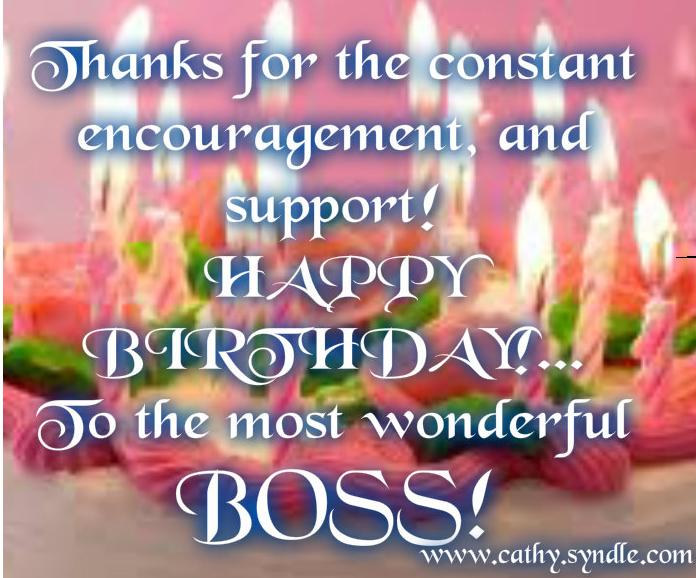 Birthday Wishes For Boss Cathy