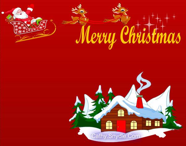 Christmas Greeting Card Free Printable Printable
