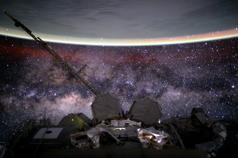 Earth and Milky Way from space