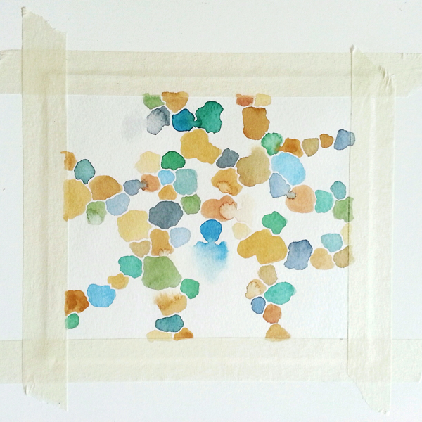 Abstract watercolor painting by Cathy Durso