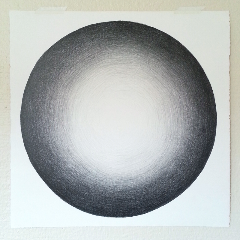 Shaded circle graphite drawing by Cathy Durso