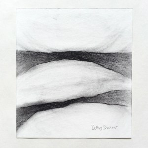 """Crack 2"", charcoal drawing by Cathy Durso"