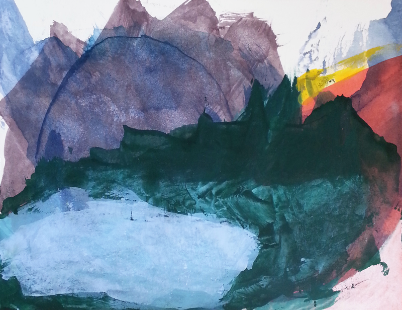 """Alpine Sunrise"", painting by Cathy Durso"